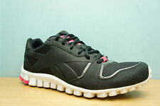 Reebok Size 6.5 Ladies Trainers Running Shoes Black / Pink Womens Girls