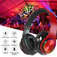 Portable Wireless Games Headset Bluetooth Stereo Headphones For Music X0T3