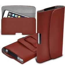 Universal Horizontal Leather Belt Pouch Case Cover for BLU Life One X2 Mini