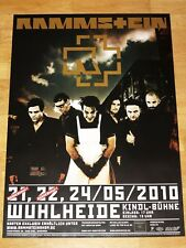 "RAMMSTEIN KONZERT POSTER 2010 BERLIN "" WUHLHEIDE "" ORIGINAL PLAKAT in MINT"