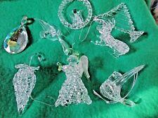 9pcs Crystal Christmas Ornaments Party Tree Hanging Decorations Xmas