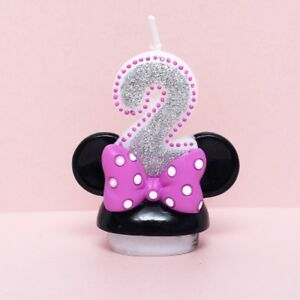"""Minnie Mouse Second Birthday Candle / Keepsake Topper  2-1/2""""X2"""""""