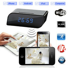 Hidden HD Wireless Wifi IP Spy Camera Motion Security Alarm Clock IR DV Cam 720P