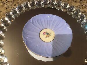 Beauiful Shelley Blue Orphan Saucer