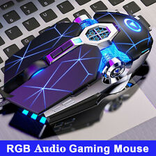 RGB Led Optical Gaming Mouse USB Wired Mice For Pc Laptop Computer Scroll Wheel