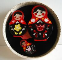 Erstwilder Brooch Set Matryoshka Memories new in box Beautiful