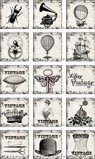 15 SMALL STEAMPUNK VINTAGE GEARS KEYS HANG / GIFT TAGS FOR SCRAPBOOK PAGES (14)