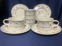 Mikasa Intaglio ANNETTE set of 4 flat cups and saucers