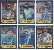 1986 Fleer Kansas City Royals Team Set