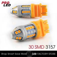 New 3156 3157 Amber Yellow LED Turn Signal Blinker Corner Lights Bulbs