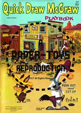 Vintage Reprint - 1960 - Quick Draw Mcgraw Playbook - Reproduction