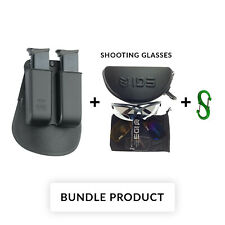 BUNDLE Fobus Double Magazine Pouch for Single Stack .22cal & .380cal 22 cal