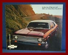 1971 Chevrolet NOVA Color Sales Brochure - Coupe + SS - NEW OLD STOCK