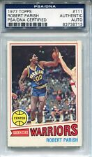Robert Parish Autographed 1977 Topps Card (PSA/DNA)