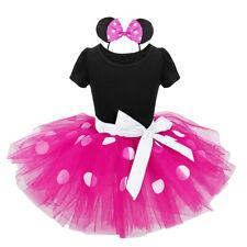Girls Princess Tutu Dress Toddlers Cartoon Mouse Skirts + Headband Party Outfits