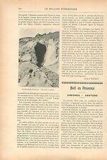 Grotte Glacier de la Brenva Mont-Blanc Italie/Crèches Santons GRAVURE PRINT 1913