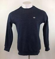 Adidas Originals Trefoil Logo Sweatshirt Blue OG Crew Neck Jumper Mens Small