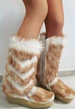 NEU Yeti 70er Echtfell Stiefel Fellstiefel 40 Pelz Fur Boots Vintage After Ski *