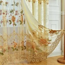 European Luxury Embroidered Sheer Hollowed Velvet Cloth Curtains Deluxe 1 Piece
