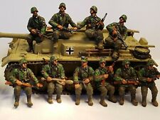 Expertly Painted 1/72 WW2 Waffen ss Panzergrenadiers Tank- Riders X 10.