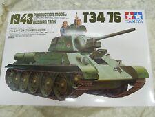 Tamiya 1/35 RUSSIAN T34/76 1943 Modèle Tank figures #35059 Kit