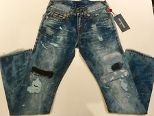 TRUE RELIGION RICKY WFLAP SUPER-T MEN JEAN PATCHED RETRO MDA859N43F NWT 31W $369