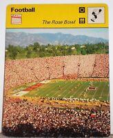 NCAA The Rose Bowl Stadium Games History 1977 Football Sportscaster Card 09-22