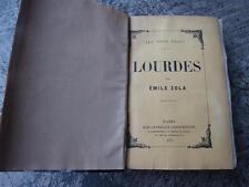 """Emile ZOLA """"Lourdes"""" Edition originale 1894. Un des 340 ex sur Hollande. Reliure"""