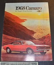 1968 CAMARO new car brochure 16 pages, not reproduction!