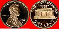 2000 S Lincoln Cent Deep Cameo Gem Proof No Reserve