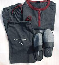 QANTAS Martin Grant First Class PJ's/sleep suit set size L/XL+ slippers.