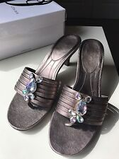 Nine West Designer Ladies Women High Heel Sandal Shoe Diamanté Gem Size 8 41