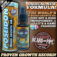 WORLD'S #1 GROWTH OIL & VOLUMIZER FORMULA by LEGENDS BEARD™- ICE-MINT!