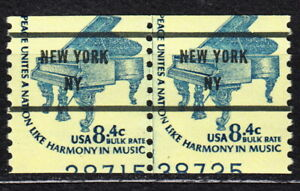US Stamps #1615c Misprint Line Pair w/60% DUAL Plate Number Showing MNH coil NY