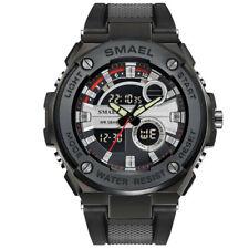 SMAEL Men Watch Digital Electronic Wristwatch Shock Resistant Sport LED Watches