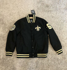 NFL Team Apparel New Orleans Saints Football Letter Men Jacket
