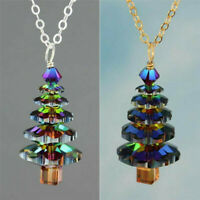 1 PC Christmas Tree Pendant Necklace Women Girls Cute Fashion Jewelry Gifts