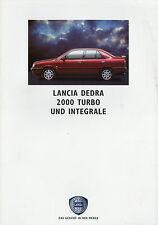 Prospekt Lancia Dedra 2000 Turbo Integrale 6/91 brochure 1991 Auto Autoprospekt
