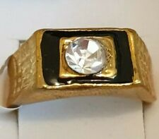 Fashion Jewellery gold plated mens ring size 10