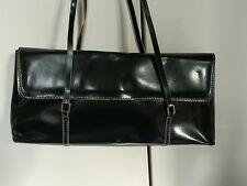 MNG Mango Black Small Leather Handbag