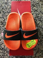 New! Nike Boy's Kawa Anthracite/Tart Slide Sandals (GS/PS) Size 5 Youth