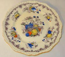 "Vintage Rare Masons Ironstone 9.75"" Dinner Plate Blue Red Fruit Basket c1920 VGC"