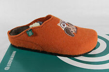 Dr.Brinkmann Ladies Slippers Real Natural Wool Felt, Orange 320424 New