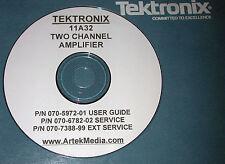 Tektronix 11A32 Service (schematics) & User Manuals (3-VOLUMES)