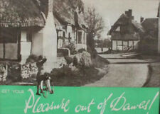 More details for get your pleasure out of dawes. vintage bicycle advertising poster c1950