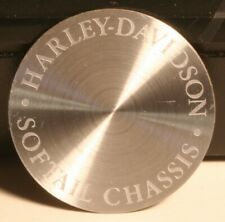 """Harley Davidson HOG Softtail Chassis Adhesive Backed Metal Disk 1 3/8"""""""