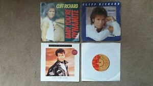 """Cliff Richard - 4 x 7"""" Singles - Baby You're Dynamite, This New Year + 2 others"""