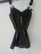 Sexy Girl's Maid  Uniform Halloween Costume Dress RARE 100% polyurethane nylon