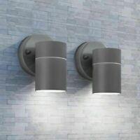 Nuovo IT 2x Applique da Parete da Esterno Acciaio Inox Lampada a Muro Giardino