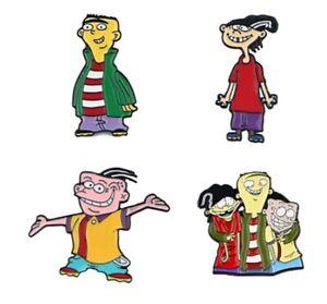 Ed, Edd n Eddy Cartoon Characters Metal Enamel 1 Inch Tall Pin Set of 4